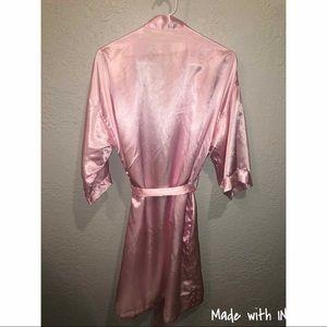 Silk pink robe